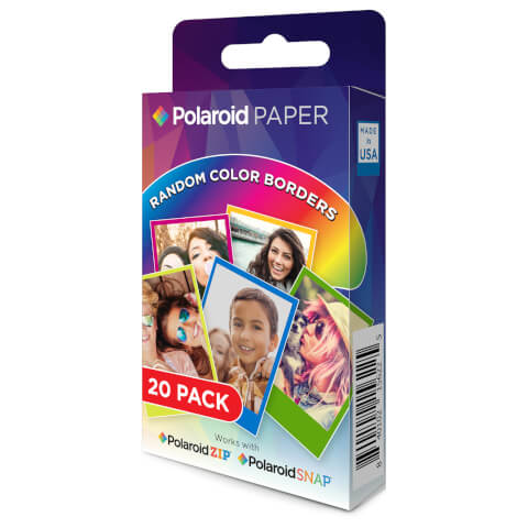 Polaroid 20 Pack of Film/Paper - Rainbow Border (2x3 Inch)