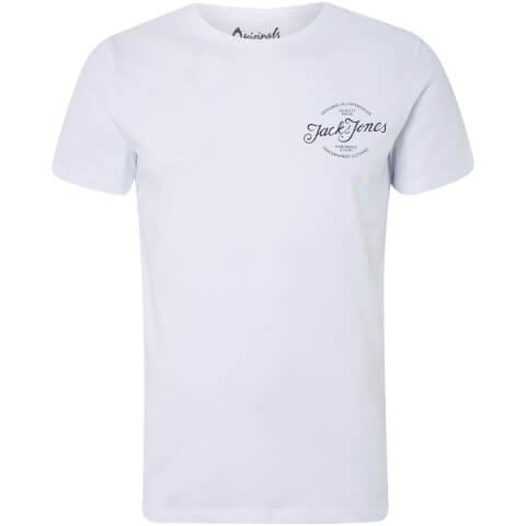 T-Shirt Homme s Originals Liam Jack & Jones - Blanc