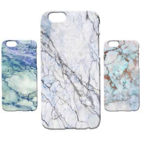 Coque iPhone & Android Texture Marbre - Bleu