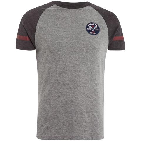 Brave Soul Men's Nurmi T-Shirt - Grey Marl