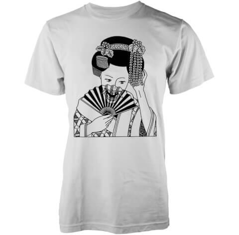 T-Shirt Homme Skull Geisha Abandon Ship - Blanc