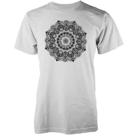 T-Shirt Homme Mandala Abandon Ship -Blanc