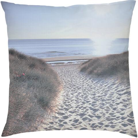 Beach Walk Cushion - Blue (45 x 45cm)