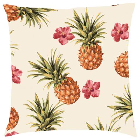 Tropical Pineapple Repeat Cushion - Cream