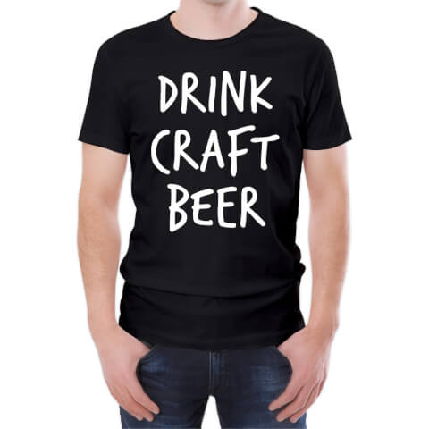 T-Shirt Homme Drink Craft Beer -Noir