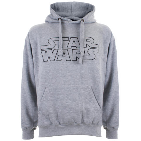 Star Wars Men's Basic Logo Hoody - Grey Marl
