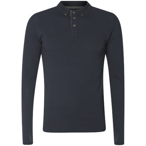 Advocate Men's Ralling Long Sleeve Polo Shirt - Navy