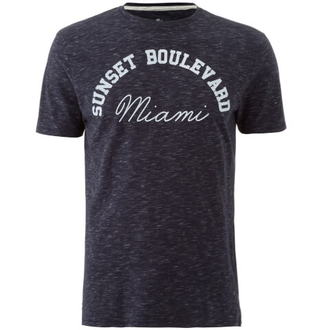 Threadbare Men's Burbank T-Shirt - Navy Marl