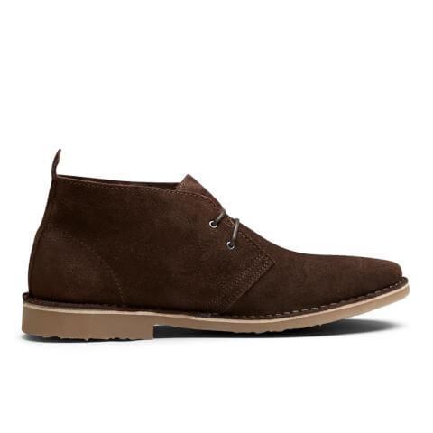 Jack & Jones Men's Gobi Suede Desert Boots - Chocolate Brown