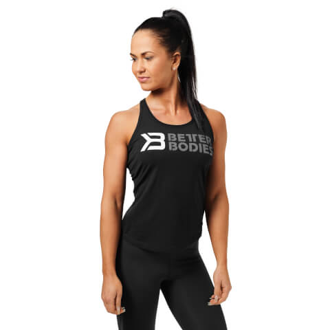 Better Bodies Printed T-Back Vest - Black/White