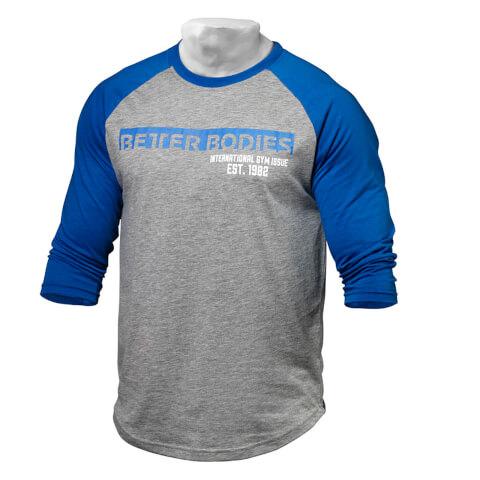 Better Bodies Men's Baseball T-Shirt - Blue/Grey