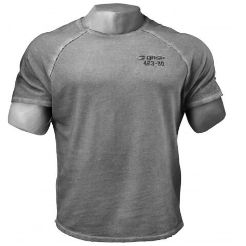 GASP Heritage Raglan T-Shirt - Grey Melange