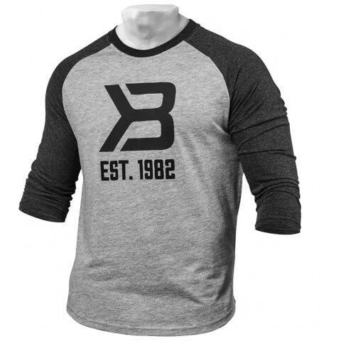Better Bodies Men's Baseball T-Shirt - Grey/Antracite
