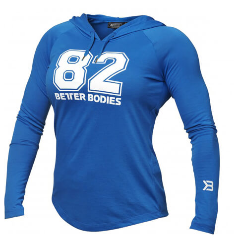 Better Bodies Varsity Hoody - Bright Blue