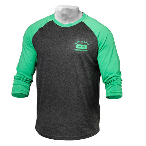 Better Bodies Men's Baseball T-Shirt - Green/Antracite