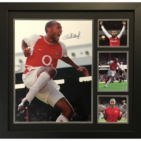 Thierry Henry Signed and Framed 16 x 20 Photograph