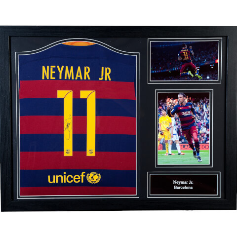 Neymar Signed and Framed 2016 Barcelona Shirt