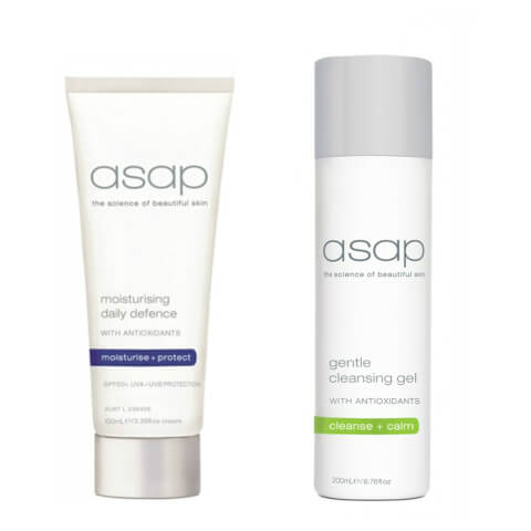 asap Gentle Cleansing Gel 200ml + Moisturising Daily Defence SPF50+ (100ml)