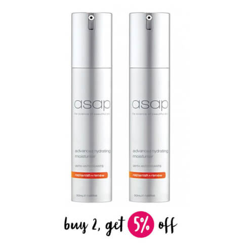 Buy 2 asap Advanced Hydrating Moisturiser 50ml And Save