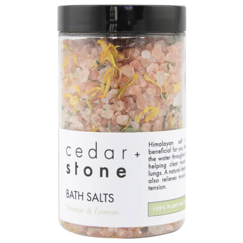Cedar + Stone Grapefruit + Lemon Bath Salts 300g