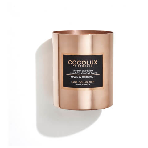 Cocolux Australia Copper Candle Luna Candle - Island Fig Cassis And Peach 350g
