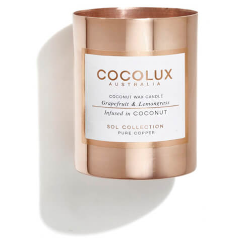 Cocolux Australia Copper Candle Sol Candle - Grapefruit And Lemongrass 150g