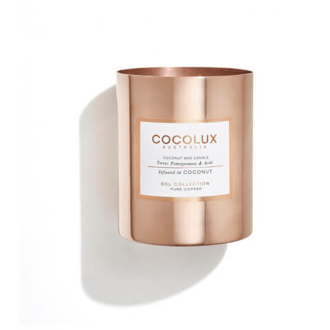 Cocolux Australia Copper Candle Sol Candle - Sweet Pomegranate And Acai 350g