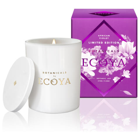 ECOYA Botanicals Limited Edition Botanic Jar Candle - African Violet 270g