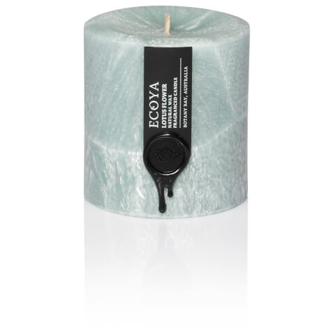 ECOYA Lotus Flower Coloured Small Pillar Candle