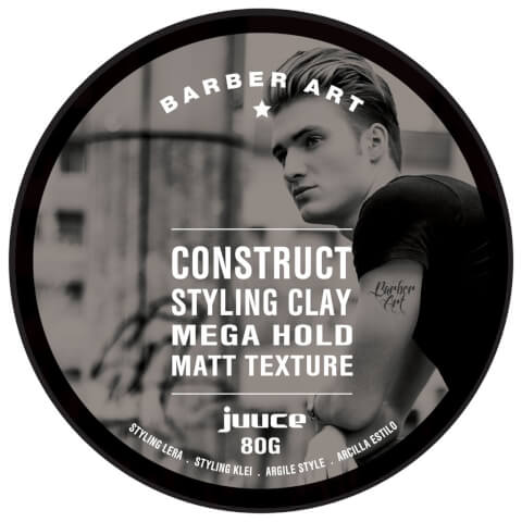 Juuce Barber Art Construct Styling Clay Mega Hold Matt Texture 80g