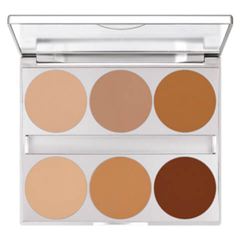 Kryolan Professional Make-Up Dual Finish Contouring Palette 10g