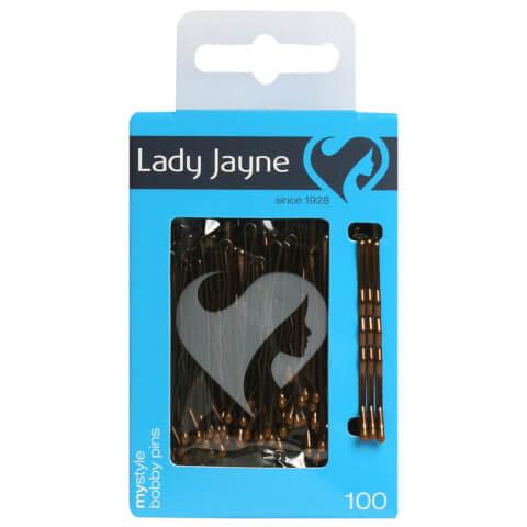 Lady Jayne Bobby Pins 4.5Cm Brown 100 Pack