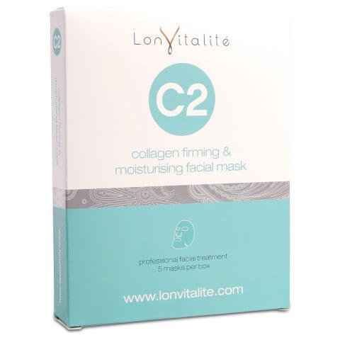 Lonvitalite C2 Collagen Protein Wrinkle Removing Mask (5 Pk)