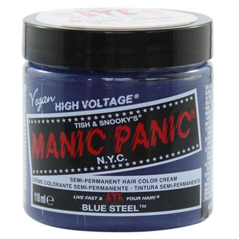 Manic Panic Semi-Permanent Hair Color Cream - Blue Steel 118ml