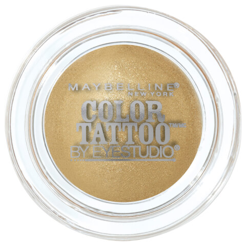 Maybelline Eye Studio Color Tattoo 24hr Cream Gel Eye Shadow #45 Bold Gold 4g