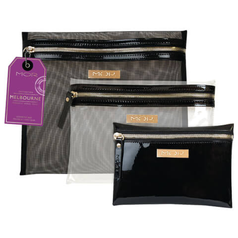 MOR Melbourne Cosmetic Purse Trio - Black