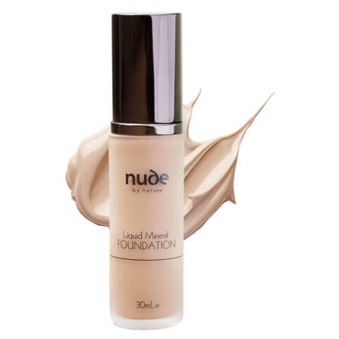 nude by nature Natural Liquid Mineral Foundation - Light 30ml