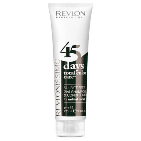 Revlon Professional 45 Days Total Color Care 2 in 1 Shampoo And Conditioner - Radiant Darks 275ml