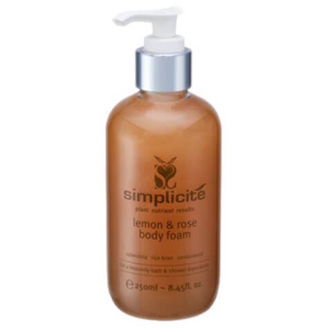Simplicite Lemon And Rose Shower Body Foam