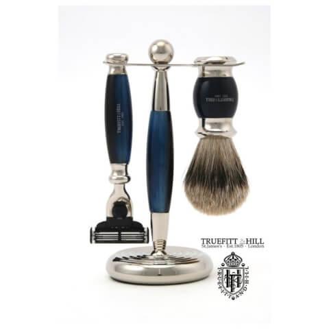 Truefitt & Hill Men's Shaving Set Edwardian Faux Blue Opal