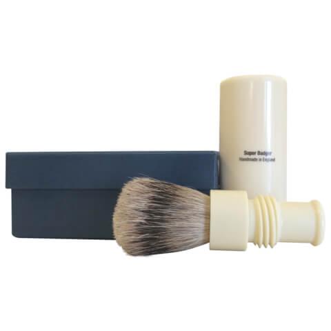 Truefitt & Hill Men's Turnback Tube Traveler Shave Brush Faux Ivory