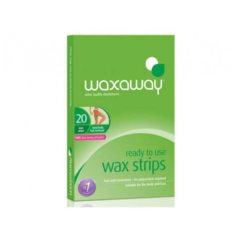 Waxaway By Caron Ready To Use Wax Strips Body 20Pk