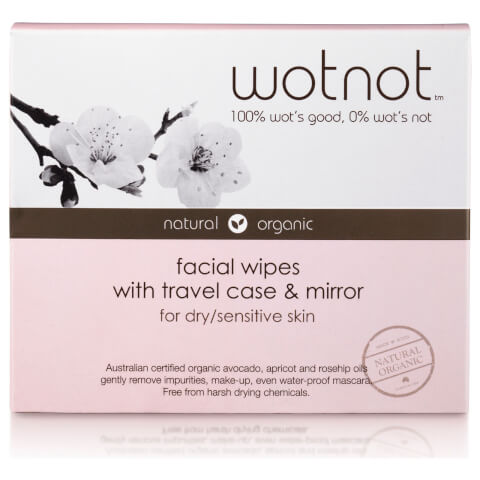 wotnot Facial Wipes Dry/Sensitive Skin x 25 With Travel Case