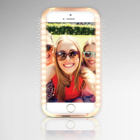 Holywood Light iPhone 7 Case with Built in Power Bank - Rose Gold