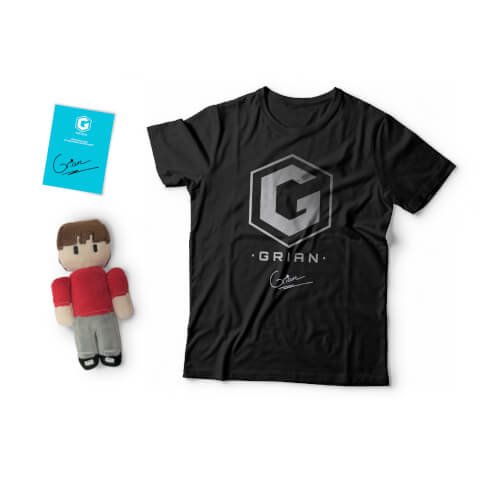 Grian - Plush + T-Shirt + Signed Card Bundle