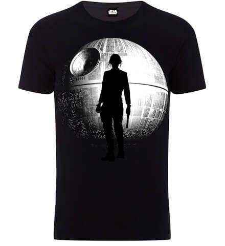T-shirt Homme l'Étoile de la Mort Star Wars - Noir