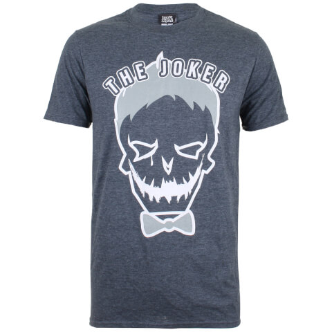 DC Comics Men's Joker Symbol T-Shirt - Dark Heather