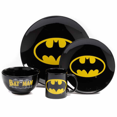 DC Comics Batman 4 Piece Dinner Set