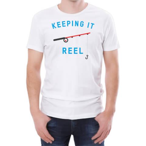 T-Shirt Homme Keeping It Reel -Blanc