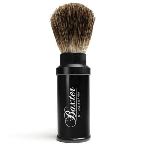 Baxter of California Pure Badger Hair Travel Aluminium Shave Brush